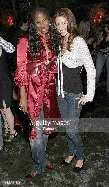 Shondrella Avery and Shannon Elizabeth during Animal Avengers Party Hosted by Shannon Elizabeth at Les Deux in Hollywood CA United States