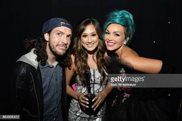 Shonduras LaurDIY and Kandee Johnson at the 2017 Streamy Awards at The Beverly Hilton Hotel on September 26 2017 in Beverly Hills California