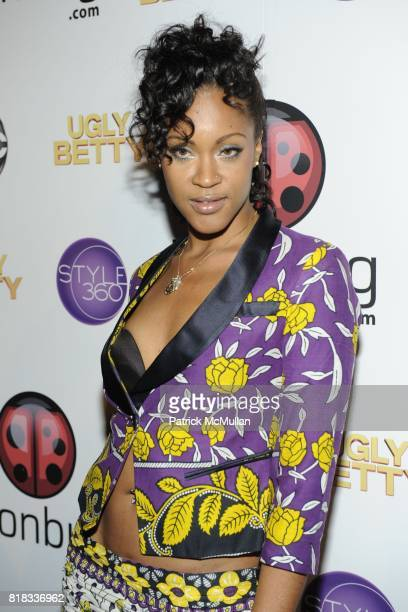 Shontelle attends JOONBUGCOM GIVES A FASHIONABLE FAREWELL TO ABC'S 'UGLY BETTY' at 228 Grand St on February 13 2010 in New York City
