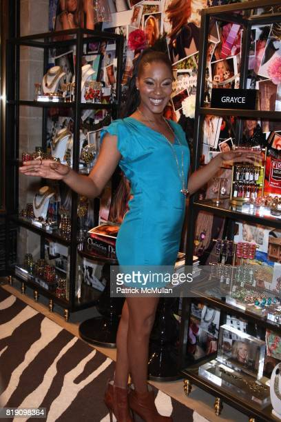 Shontelle attends MOLLY SIMS Launches GRAYCE by MOLLY SIMS at Henri Bendel on March 23 2010 in New York City