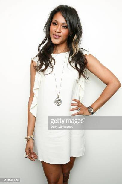Shontelle attends the Music Unites Girls Inc Power of One series at the Intrepid SeaAirSpace Museum on March 10 2011 in New York City