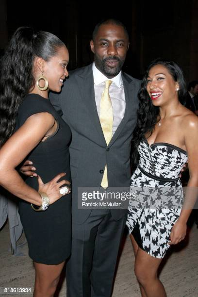 Shontelle Idris Elba and Melanie Fiona attend FFAWN Presents an Evening Celebrating 'MARY J BLIGE HONORS WOMEN WEEK' at Cipriani on June 17 2010 in...