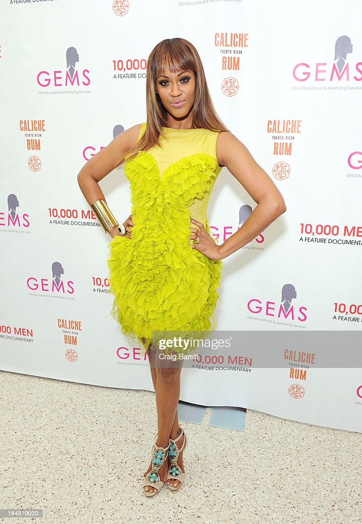<a gi-track='captionPersonalityLinkClicked' href=/galleries/search?phrase=Shontelle&family=editorial&specificpeople=1499324 ng-click='$event.stopPropagation()'>Shontelle</a> Layne attends the GEMS Girls Like Us Benefit Gala hosted by Demi Moore And Rachel Lloyd at El Museo Del Barrio on October 17, 2012 in New York City.