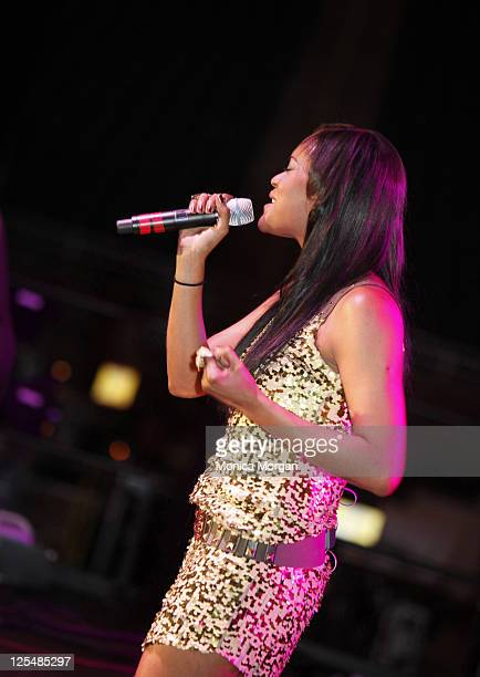 Shontelle performs at the 2010 Hob Nobble Gobble at Ford Field on November 20 2010 in Detroit Michigan