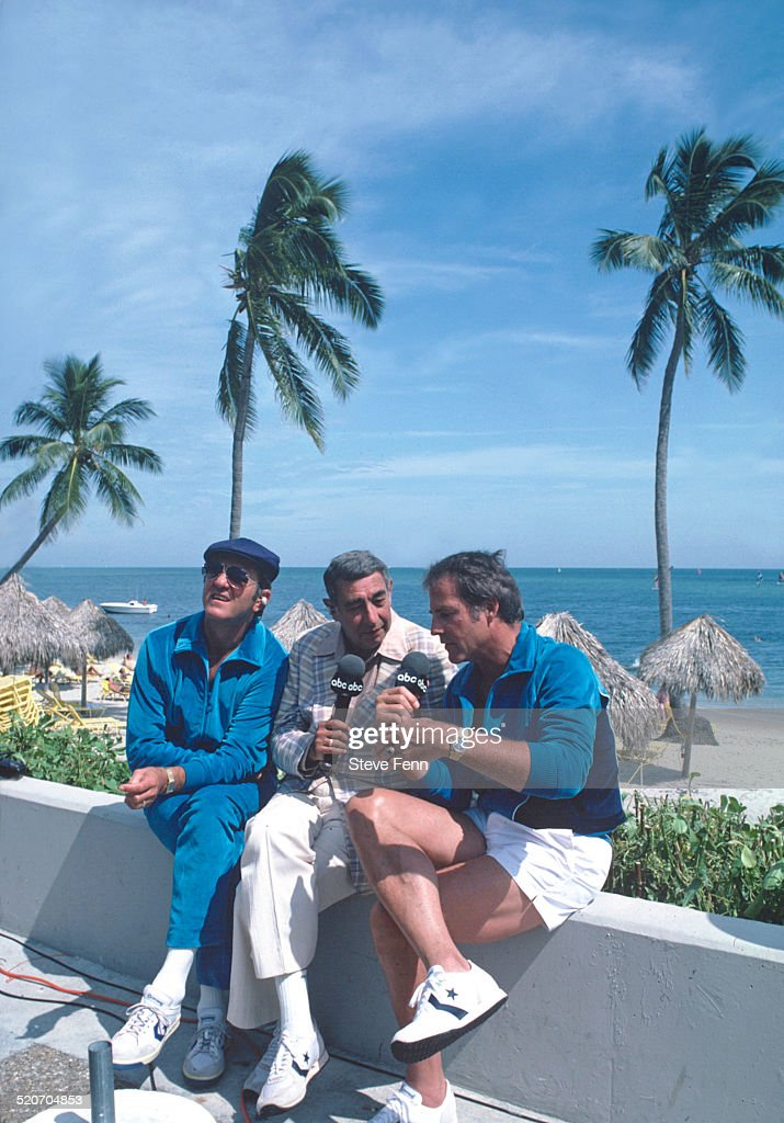 SPECIAL - 'NFL SUPERSTARS' - Shoot date: Don Meredith, Howard Cosell and Frank Gifford. (Photo by Steve Fenn/ABC via Getty Images)DON