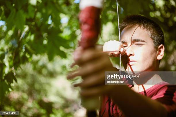 Shoot: Young child who takes archery
