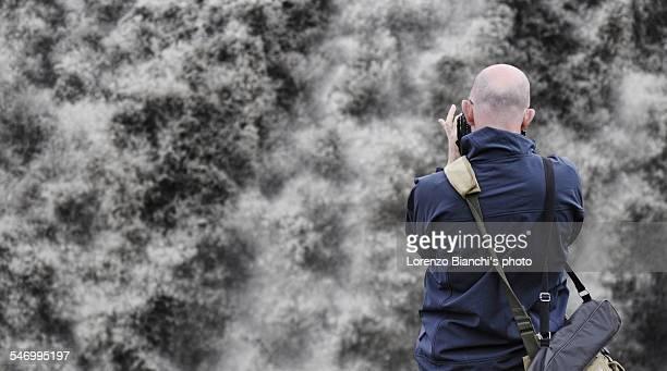 Shooting at Dettifoss waterfall