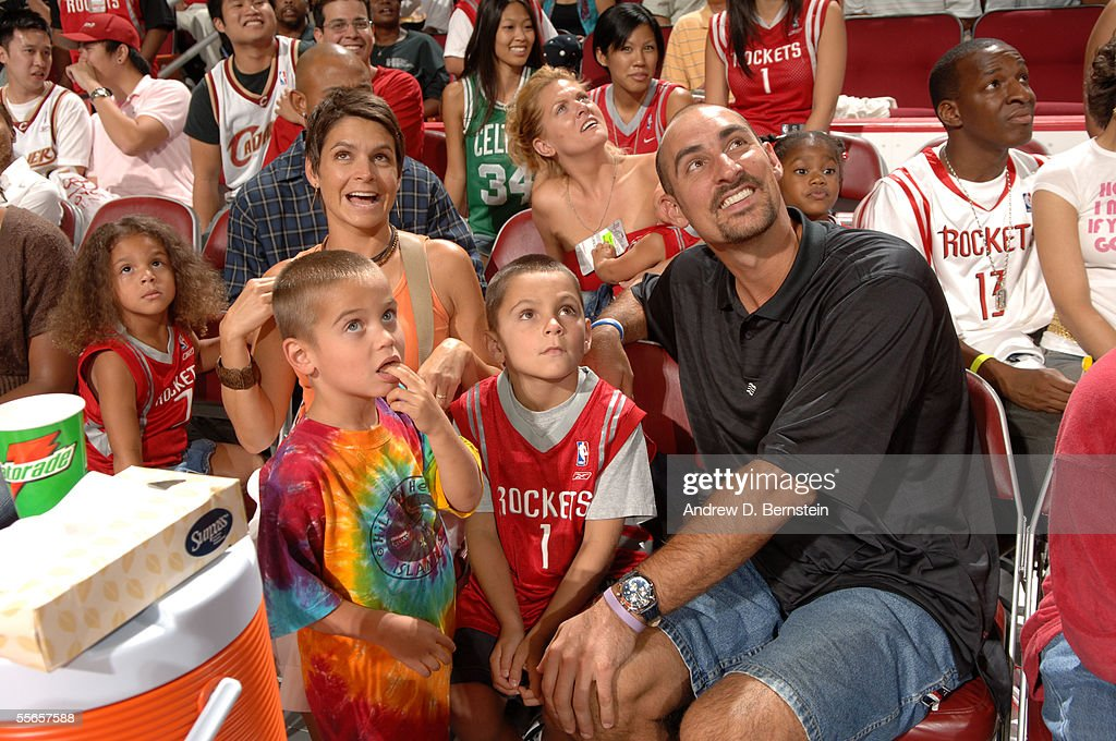 NBA shooting guard Jon Barry attends Kenny Smith's Hurricane Katrina Relief NBA Charity Game September 11 2005 at the Toyota Center in Houston Texas...