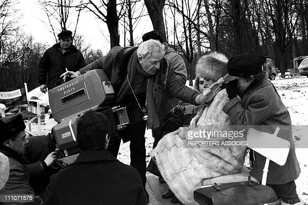 Shooting Of Film 'Promise At Dawn' Jules Dassin With Melina Mercouri In France On November 1969