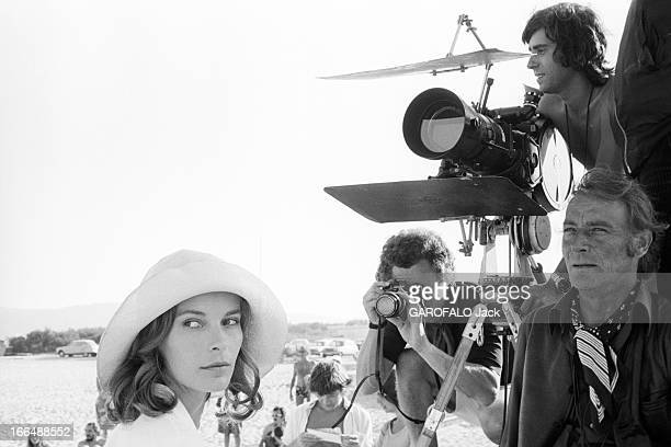 Shooting Of The Film ' Bilitis' By David Hamilton France 20 septembre 1976 Lors du tournage du film 'BILITIS' de David HAMILTON celuici aux côtés...
