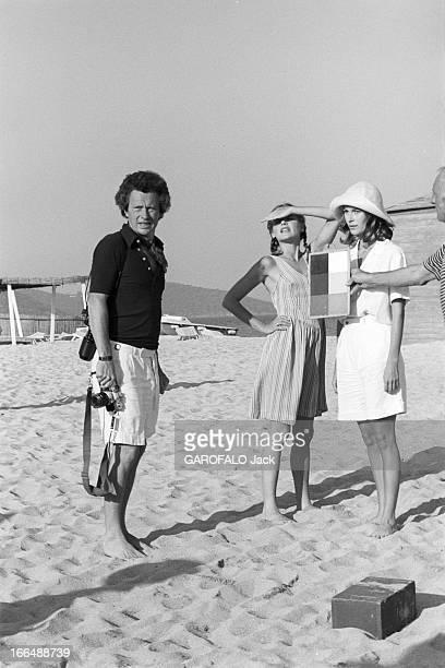 Shooting Of The Film ' Bilitis' By David Hamilton France 20 septembre 1976 Lors du tournage du film 'BILITIS' de David HAMILTON de gauche droite le...