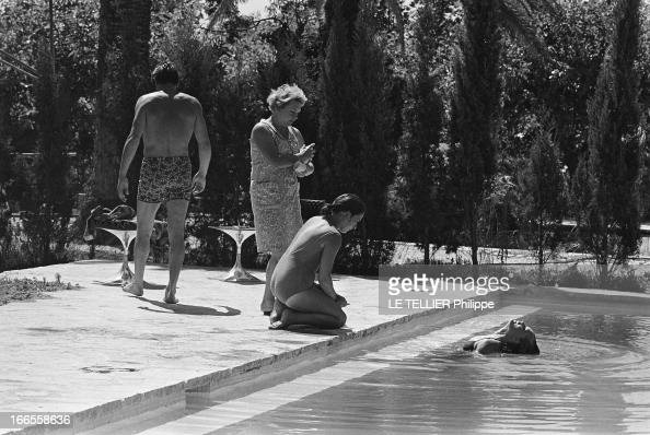 Shooting of the film 39 la piscine 39 by jacques deray for La piscine movie
