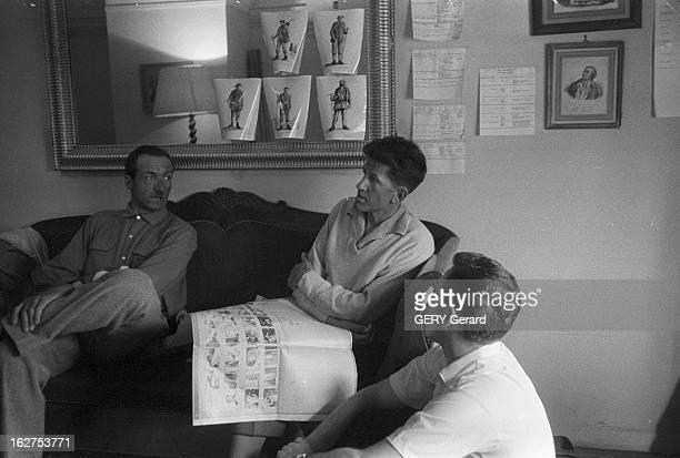 Shooting Of The Film 'Le Troisieme Homme Sur La Montagne' With The Mountaineer Gaston Rebuffat On Mount Cervin Suisse Valtournenche 16 juillet 1958...