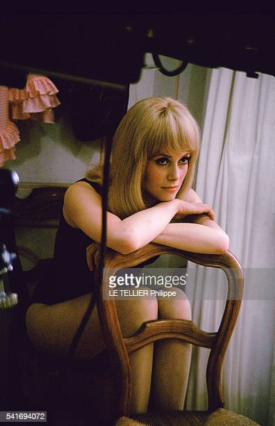 shooting of the movie Les Demoiselles de Rochefort by Jacques Demy in the city hall of Rochefort the actress Catherine Deneuve on June 1966