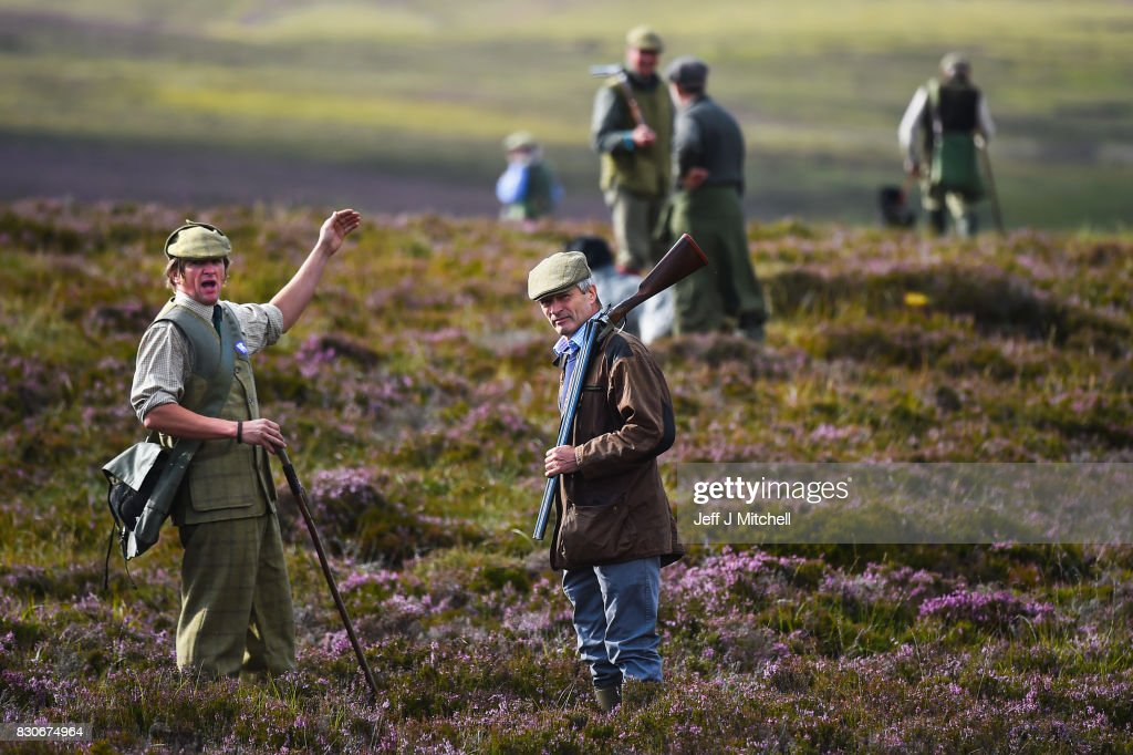 A shooting party heralds the new shooting season on a grouse moor at the Alvie Estate on August 12, 2017 in Aviemore, Scotland. The Glorious 12th signals the start of the grouse shooting season, it has been an integral part of the countryside calendar for decades with enthusiasts travelling from all over the world to shots on Scotlands finest estates.