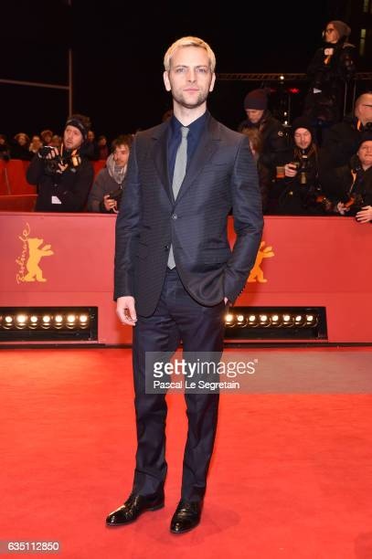 Shooting Star Alessandro Borghi wearing Gucci attends the 'The Party' premiere during the 67th Berlinale International Film Festival Berlin at...