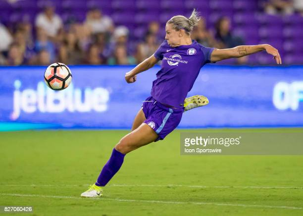 Orlando Pride forward Rachel Hill during the NWSL soccer match between the Orlando Pride and the Chicago Red Stars on August 5th 2017 at Orlando City...