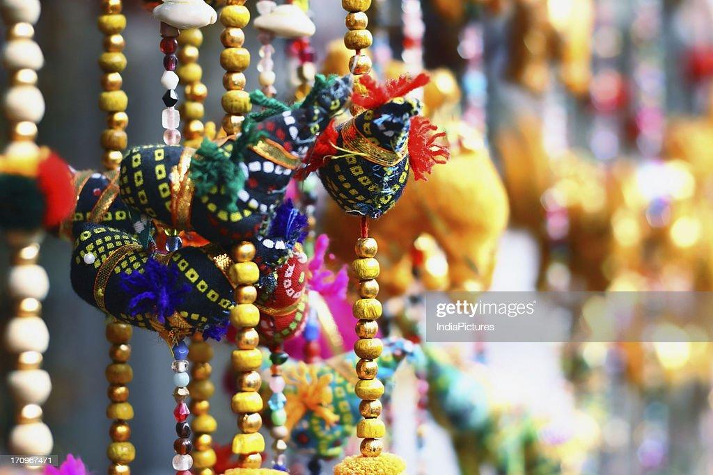 A shop at the annual Pushkar Fair in Rajasthan India