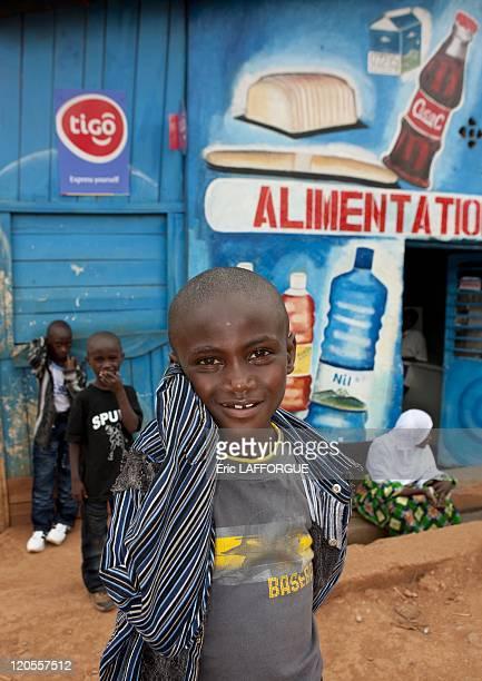 Shop decoration in Kigali muslim quarter in Rwanda on March 27 2010