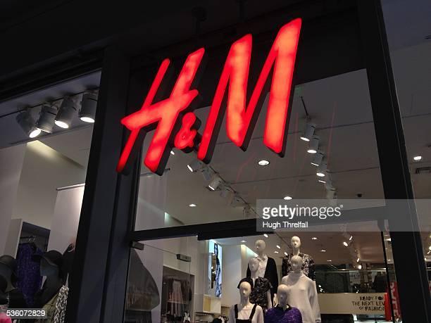 H M shop front Athens Greece