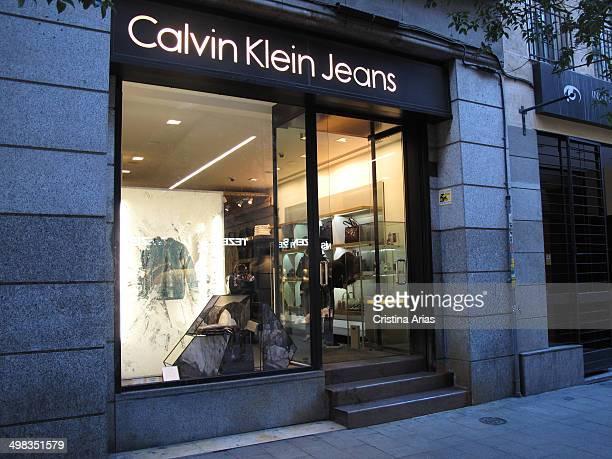 Shop of Calvin Klein Jeans in Fuencarral Street in Madrid Spain