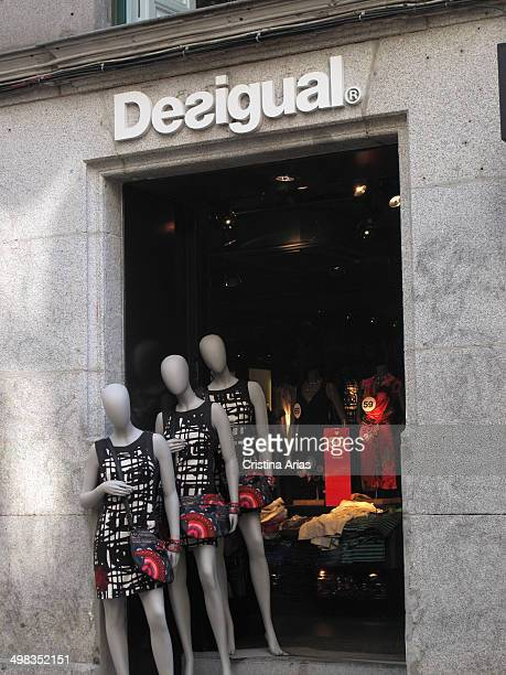 Shop of the Spanish fashion brand Desigual located in Fuencarral Street of Madrid a pedestrian street in the center of Madrid with many fashion...