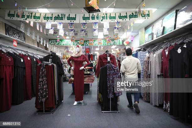 A shop on Haldon St in the southwestern suburb of Lakemba filled with decorations celebrating Ramadan on May 27 2017 in Sydney Australia Muslims...
