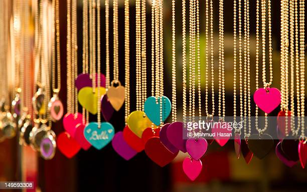 Shop selling love pendant