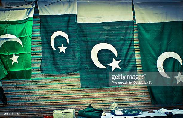 Shop selling Pakistani flags