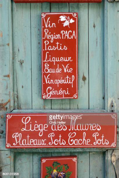 Shop Sign Advertising Local Products Moustiers or Moustiers-Sainte-Marie Provence