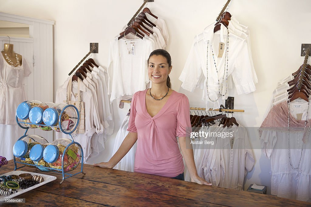 Shop worker in clothes shop