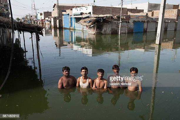 Shopkeepers in the centre of the town of Khairpur Nathan Shah which had been totally submerged by floodwaters Our names are Abdul Sattar Mir Nawaz...