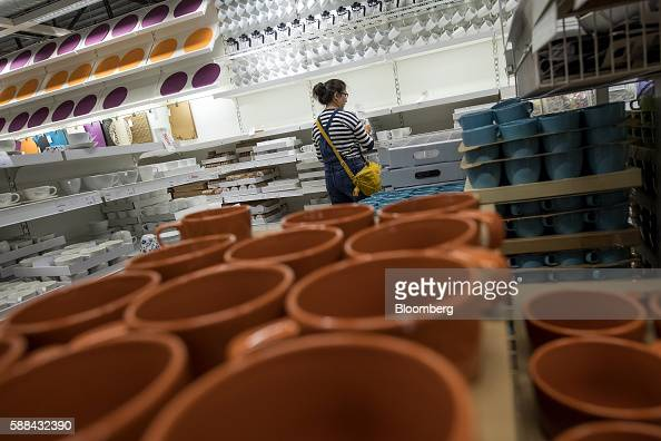 A shopper browses coffee cups inside an IKEA AB store in Emeryville California US on Tuesday Aug 9 2016 The US Census Bureau is scheduled to release...