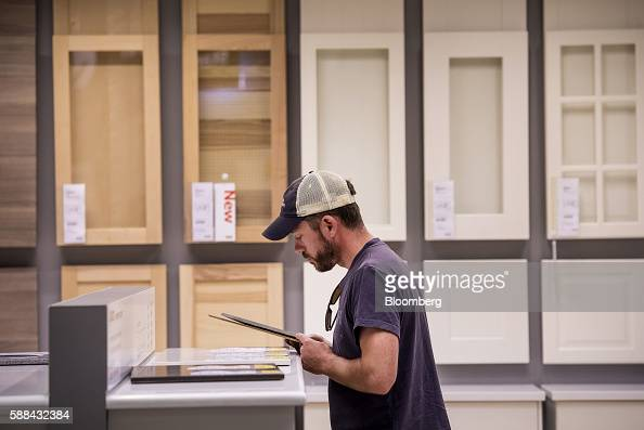 A shopper browses counter tops inside an IKEA AB store in Emeryville California US on Tuesday Aug 9 2016 The US Census Bureau is scheduled to release...