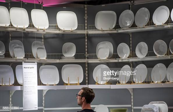 A shopper browses in the kitchen department inside an IKEA AB store in Emeryville California US on Tuesday Aug 9 2016 The US Census Bureau is...
