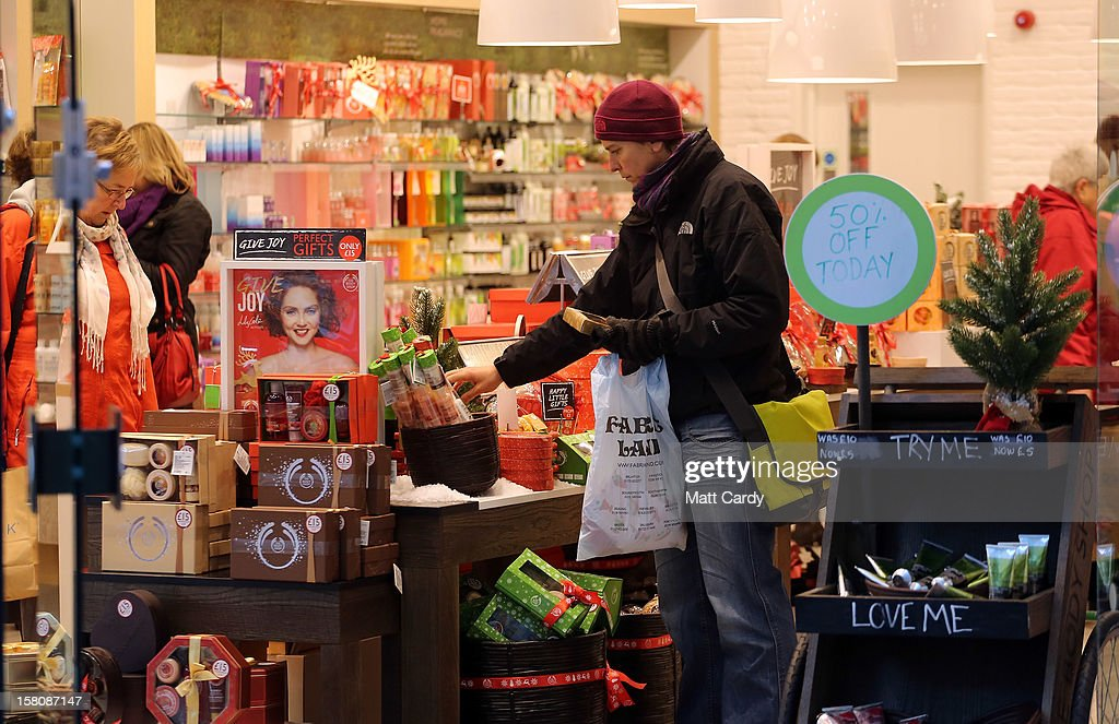 A shopper browses merchandise in a shop on December 10, 2012 in Bristol, England. With internet shopping still on the rise, many traditional retailers claim this Christmas could be the one that will determine the future of the high street.