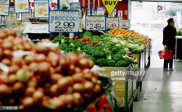 A shopper browses shelves at a supermarket July 28 2006 in Sydney Australia Prices in Australia have reached a 15year high showing an 83 per cent...