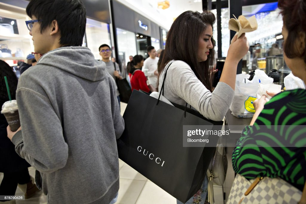 Shoppers Inside The Fashion Outlets Of Chicago Mall For Black Friday Sales