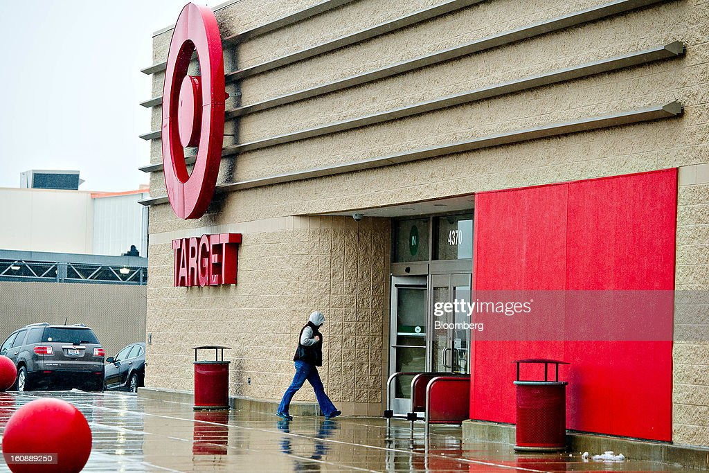 A shopper enters a Target Corp. store in Peru, Illinois, U.S., on Thursday, Feb. 7, 2013. Target Corp. led U.S. retailers to the biggest monthly same-store sales gain in more than a year as shoppers snapped up discounted merchandise chains were clearing out after the holidays. Photographer: Daniel Acker/Bloomberg via Getty Images
