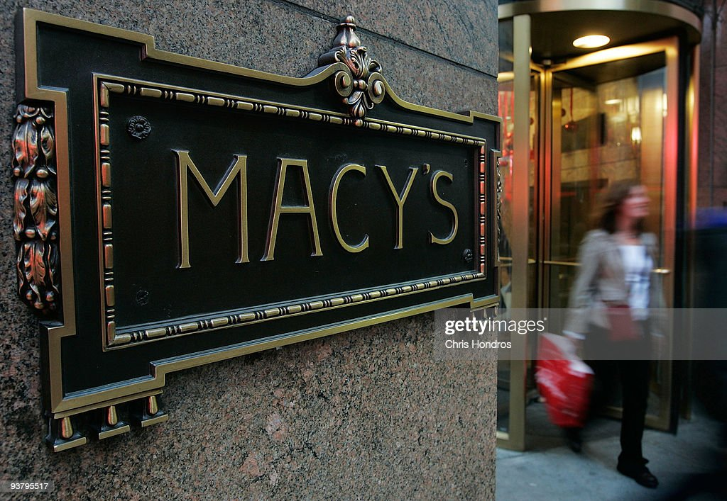 A shopper exits Macy's department store December 3, 2009 in New York City. Retail sales declined 0.3 percent, with Macy's dopping 6.1 percent, in November, leading some analysts to fear that the holiday season will not live up to expectations.