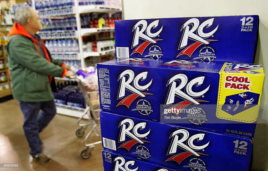 A shopper passes a display of 12-packs of RC Cola at a market March 6, 2006 in Des Plaines, Illinois. A new study reportedly links sugary sodas and drinks to the obesity epidemic.