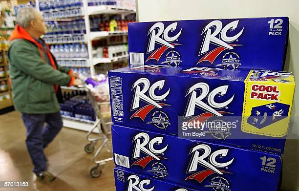 A shopper passes a display of 12packs of RC Cola at a market March 6 2006 in Des Plaines Illinois A new study reportedly links sugary sodas and...