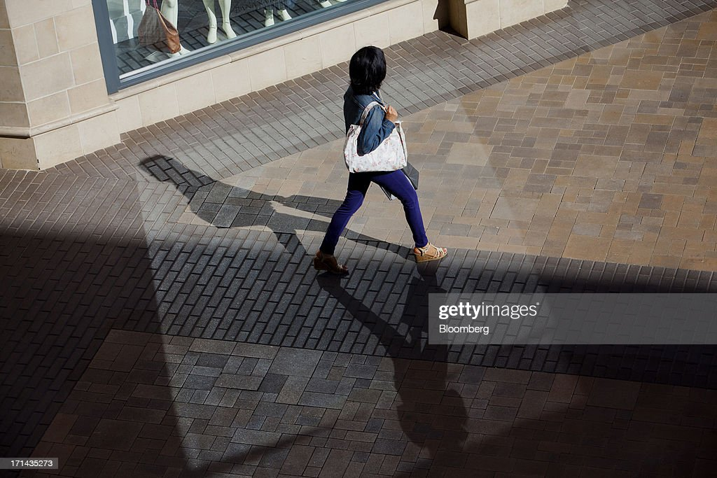 A shopper walks through the Fashion Valley Mall in San Diego, California, U.S., on Saturday, June 22, 2013. The Bureau of Economic Analysis is schedule to release personal consumption figures on June 26. Photographer: Sam Hodgson/Bloomberg via Getty Images