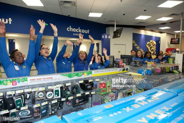 Shoppers and employees participate in Best Buy Black Friday at Best Buy Union Square on November 24 2011 in New York City