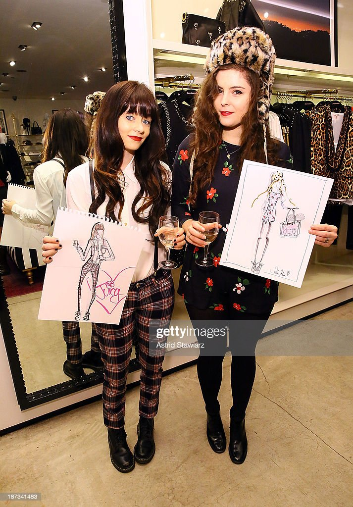 Shoppers are seen inside the Vanity Fair & Juicy Couture 'Wild For Gifts' Celebration on November 7, 2013 in New York City.