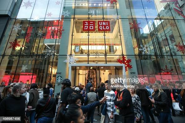 Shoppers are seen outside a shop on the first day of Black Friday in New York on November 27 2015 The day after Thanksgiving called Black Friday is...
