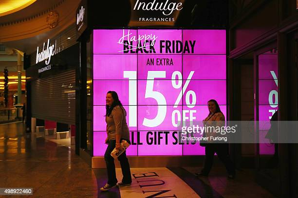 Shoppers arrive at The Trafford Centre and wait for the shops to open in the hope of a 'Black Friday' bargain on November 27 2015 in Manchester...