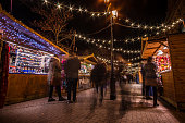 Shoppers at Chester Christmas Markets