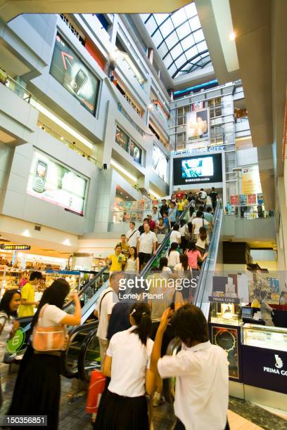 Shoppers at MBK shopping centre, Siam Square district.