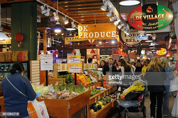 Shoppers at Reading Terminal Market in Philadelphia